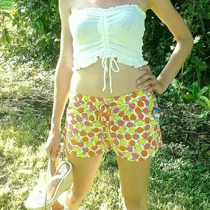 Womens S BeBop citrus shorts